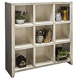 legends furniture ca6403rwt calistoga 9 cubicle bookcase