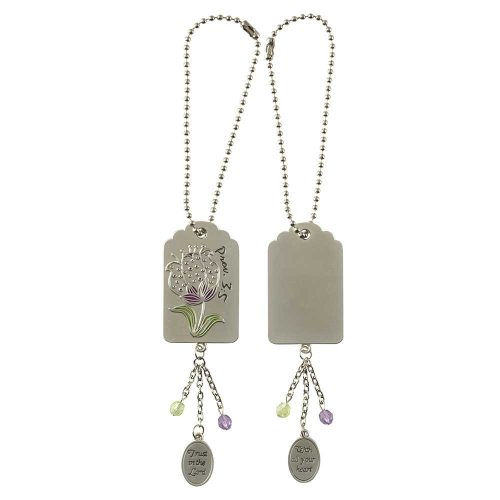 Dicksons Trust In The Lord Silver Toned 7 inch Zinc Alloy Mirror Charm