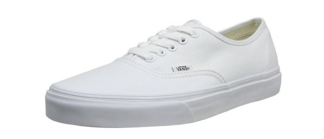 Vans Authentic Sneakers B01JEDNXNE 5.5 M US Women / 4 M US Men|True White