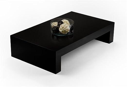 Made in Italy Frassino Nero Tavolino da Salotto First H30 Mobili Fiver Nobilitato Disponibile in Vari Colori 90 x 54 x 30 cm