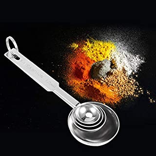 Kitchen Measuring Accessories Coffee Spoon, 2 Set Multifunction With Marks Measuring Spoon, for Kitchen Baking Supplies