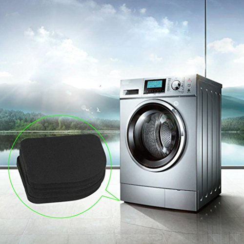 DZT1968 4 Pcs Washing Machine Shockproof Pad Mute Cotton Refrigerator Anti Slip Mat