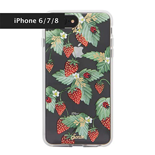 Sonix Fraise Strawberry Fruit Cell Phone Case [Military Drop Test Certified] Women's Protective Clear Case for Apple iPhone 6, iPhone 7, iPhone - Phone Cell Case Strawberry