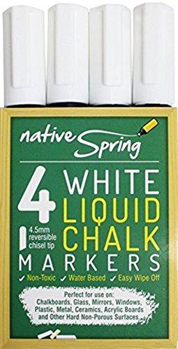native-spring-white-liquid-chalk-marker-pens-45mm-reversible-tip-4-pack