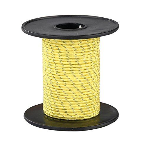 世代影のある落ち着いてMy Outline UHMWPE-ポリエステル2.5mmx30M黄色いテント反射ロープ キャンプテント用
