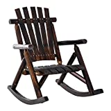 Outsunny Outdoor Fir Wood Rustic Patio Adirondack Rocking Chair Furniture Review