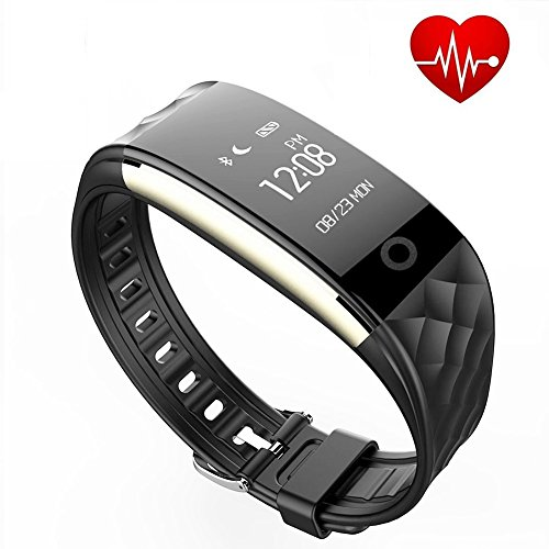 Fitness Tracker Bluetooth Smart Bracelet GTBonad Touch Screen Wearable Waterproof Pedometer Heart Rate Monitor Smart Wristband for Android/IOS(Black)