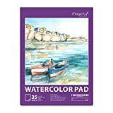"Watercolor Pad, Magicfly 9""X12"" Watercolor Paper Sketchbook for Wet, Dry & Mixed Media Painting, 35 Sheet, 140lb, 1 Pack"