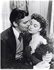 Gone With the Wind Vivien Leigh as Scalet O'Hara and Clark Gable as Rhett Butler Faces Close Together Black and White 8 x 10 Inch Photo