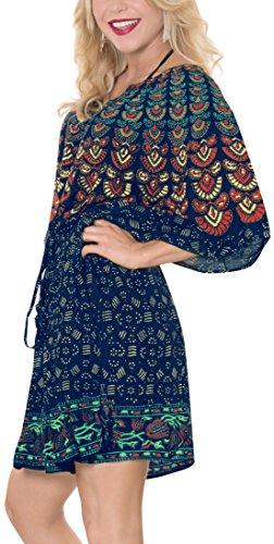 costume casual bagno da profondo 1 ricamato superiore classico abbigliamento leggero signore beachwear Leela kimono La in collo pi tutto salone tunica rayon nO7Sw6