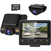 AQP Full HD 1080P Car Camera Front and Rear for Cars