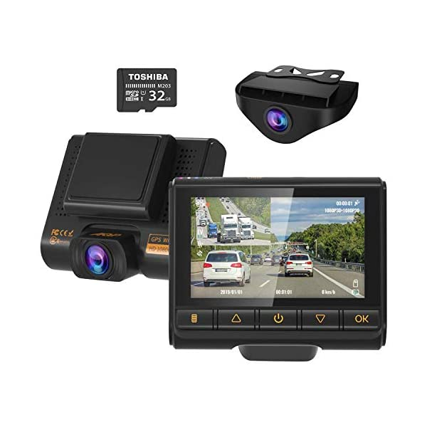 Dual Dash Cam, AQP Full HD 1080P Car Camera Front and Rear for Cars, Dashboard Camera...