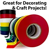 Weather-Resistant Colored Electrical Tape 60 Jumbo