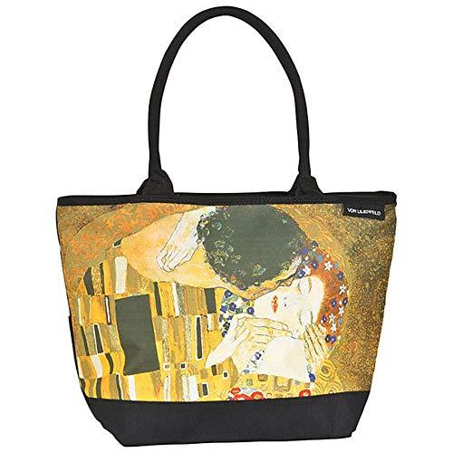 VON LILIENFELD Bolsa Compra Shopper Grande de Playa Bandolera Mujer Arte Gustav Klimt El beso