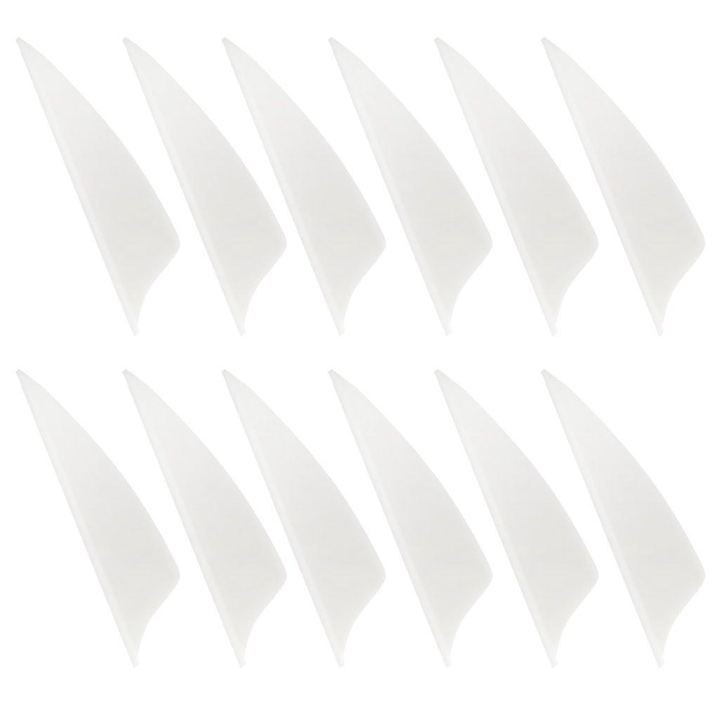 D DOLITY K/ünstlich Pfeilefedern 1,75 Zoll f/ür Verschiedene Arten von Pfeil