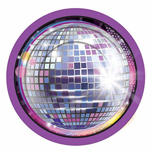 Forum Novelties X77971 Disco Small Plates, Multi-Colour, One Size -