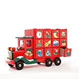 Coerni Christmas Gift Decorative Handmade Wooden Candy Truck