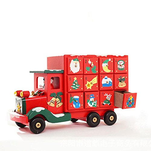 Coerni Christmas Gift Decorative Handmade Wooden Candy Truck by Coerni