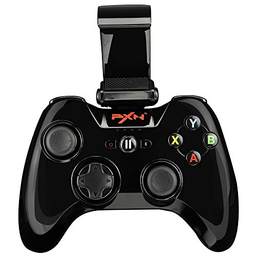 MFi Certified Wireless Game Controller, PXN 6603 Bluetooth Gamepad, YF2009 Gaming Controller Joypad with Adjustable Clamp Holder Compatible with IOS iPhone/iPad/iPod/Apple TV (Black)