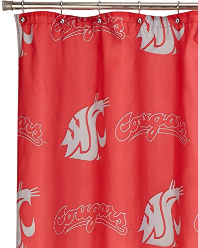 Washington State Shower Curtain (Officially Licensed NCAA Washington State Cougars Shower Curtain)