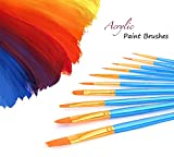 Artist Paint Brushes Set with Paint Trays