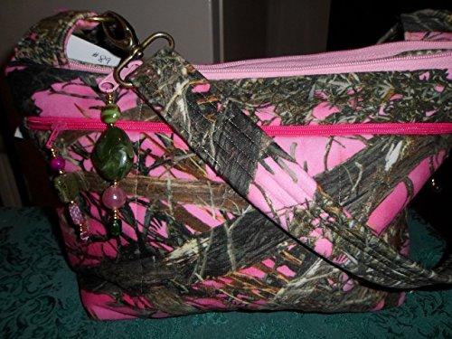 (lg-pk camo) water repellent original design handmade purse ()