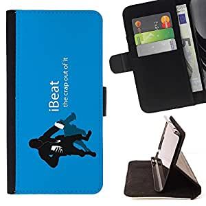 For Sony Xperia Z2 D6502 iBeat Beautiful Print Wallet Leather Case Cover With Credit Card Slots And Stand Function