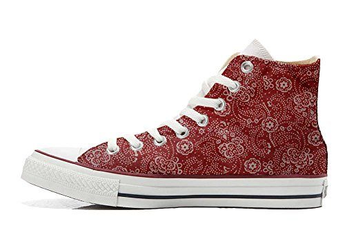 Red EU personalisierte Schuhe All Converse Customized Paisley Handwerk 32 Star Schuhe Hi size q48TOTfw6