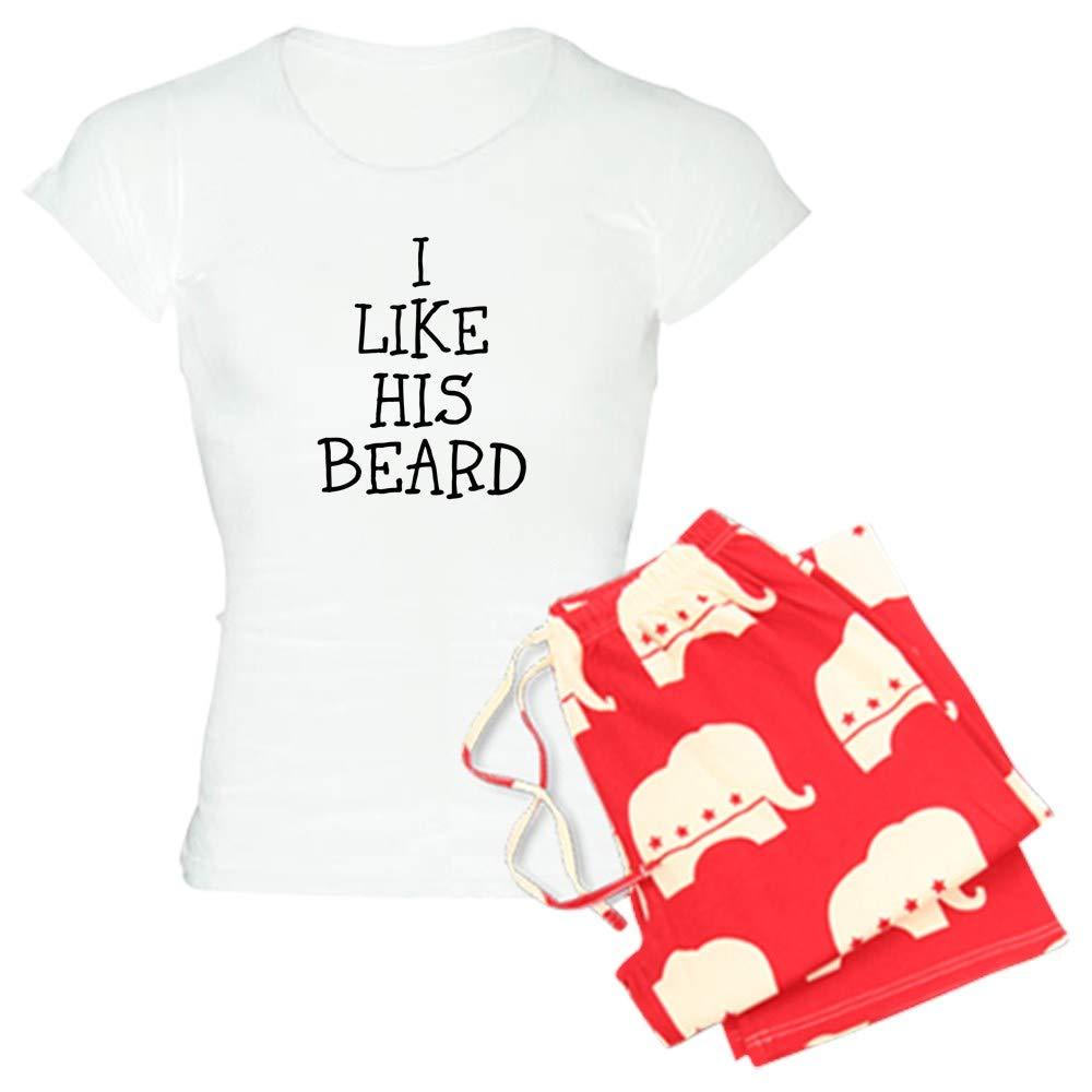 CafePress I Like HIS Beard Pajamas Womens PJs