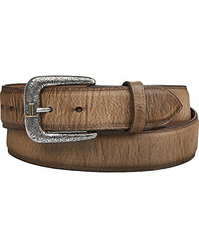 - Lucchese Men's Mad Dog Goat Leather Belt Tan 36