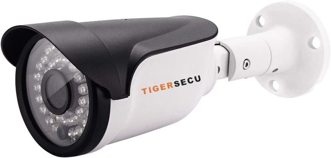 TIGERSECU Super HD 1080P Indoor/Outdoor IP66 Bullet Security Camera, 65ft Night Vision, 2.0mp (Power Supply and Coaxial Cable Sold Separately)