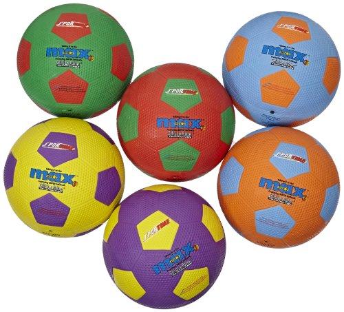 Sportime SportimeMax Soccer Balls - Size 5 - Set of 6 Colors