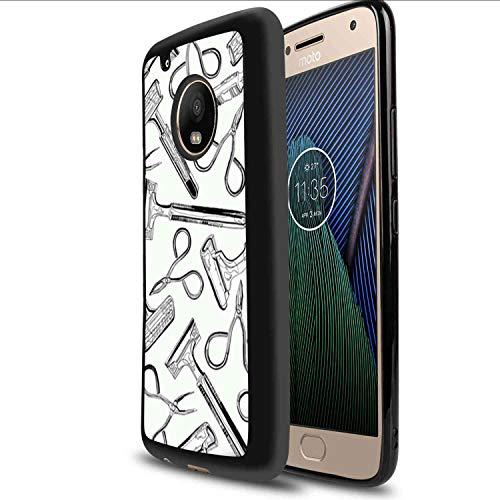 Scissors and Razors Soft TPU Case Fits for Motorola Moto G5 Plus (2017) (5.5