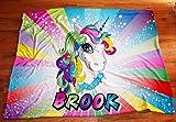 Personalized Girls Unicorn blanket, Magical Unicorn Blankets, Plush blankets, Fantasy Girls Room Decor, Custom Girls Unicorn Blankets