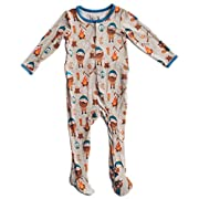Kozi & Co. Baby Sleeper Newborn Footie Pajamas - Bamboo Clothing - Infant Boys - Lumberjack - 0-3 Months by