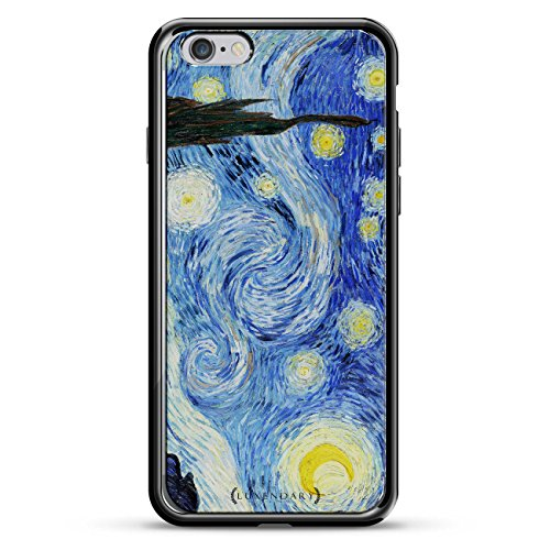 (Luxendary Starry Night Van Gogh Painting Public Domain Picture Design Chrome Series Case for iPhone 6/6S Plus - Titanium Black)