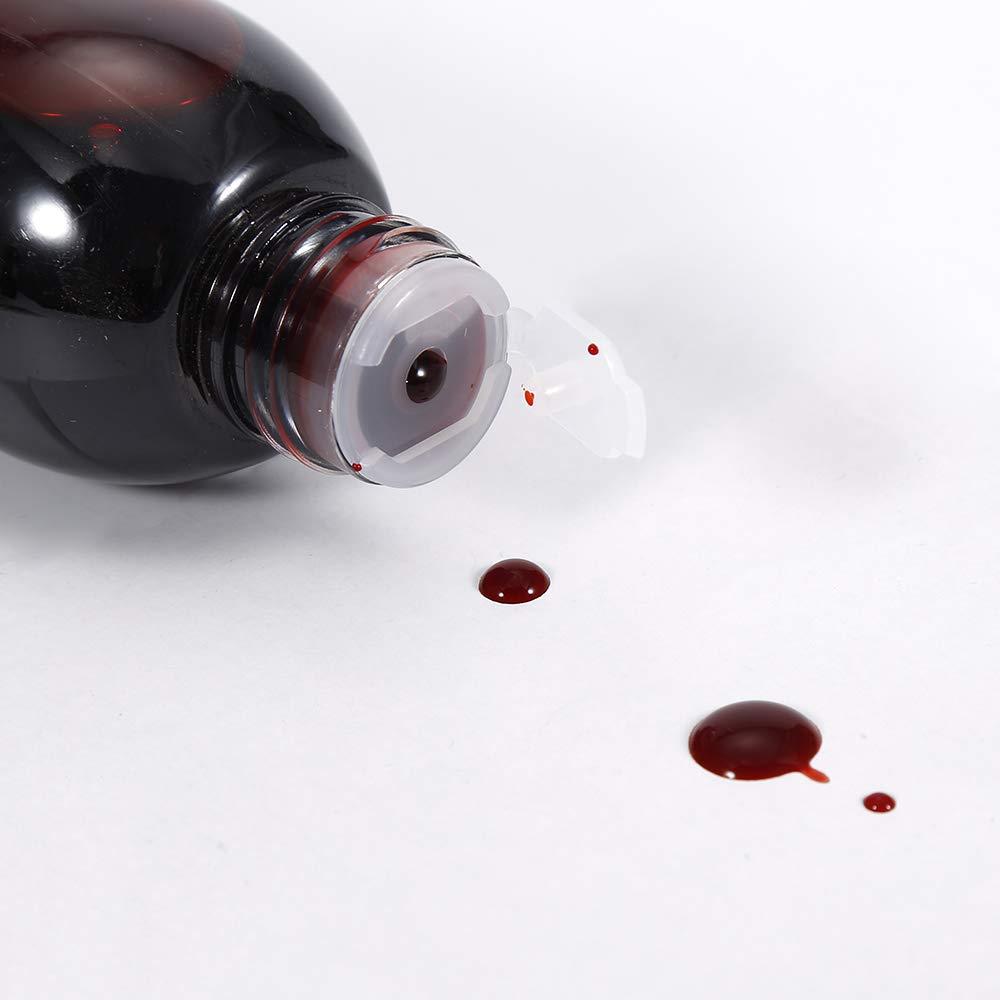 1 PCS Halloween Makeup Non-Toxic Edible Blood, Realistic Fake Blood Body Paint Halloween Horror Vampire Fake Blood Stage twbbt