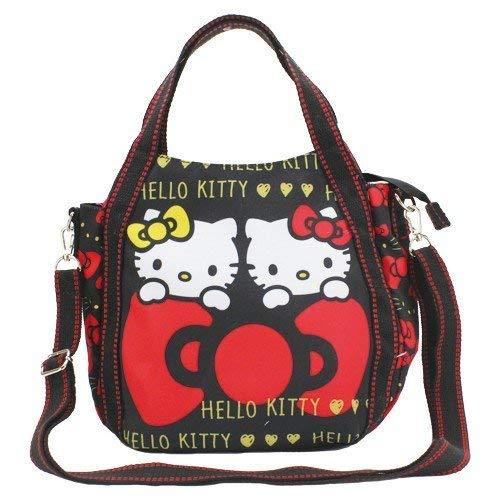2623febd5 MARUSHIN Sanrio Handbag Shoulder Bag Hello Kitty Black with Ribbon 4611:  Amazon.co.uk: Shoes & Bags