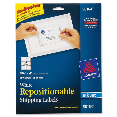 avery-repositionable-shipping-labels-for-inkjet-printers-333-x-4-inches-white-box-of-150-58164