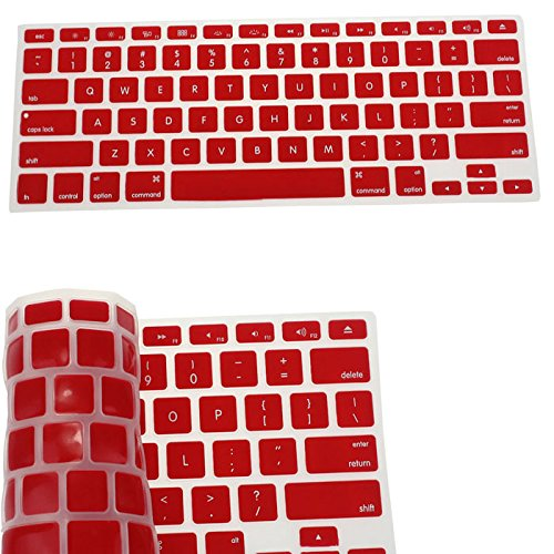 Price comparison product image Silicone Keyboard Skin Cover for Apple Macbook Pro Air Mac Retina 13.3 (Red)