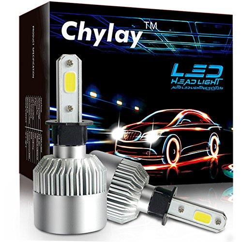 Chylay H3 LED Bulb for Car Headlamp Fog Light Bulb, 72W 8000LM 6500K White Aluminum Housing & Turbo Cooling -2 Yr Warranty