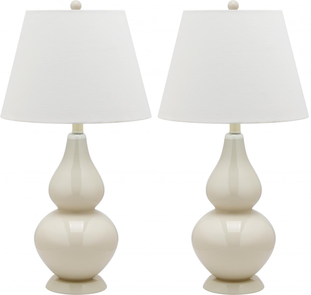 Amazon.com: Safavieh Lighting Collection Cybil Double Gourd Table Lamp,  White, Set Of 2: Home U0026 Kitchen