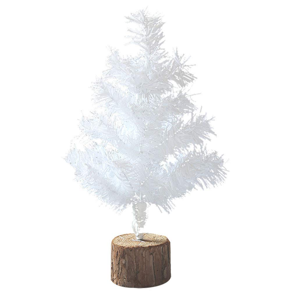 Inkach Clearance Mini Tabletop Christmas Tree, Artificial Spruce Tree Ornament Home Decorations Xmas Gift (S, White)