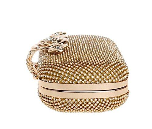 silver Sacs à cloutés Sacs Sacs De Mesdames Soirée Main Luxe De Embrayage Diamond Robes Banquet w6xqpgC