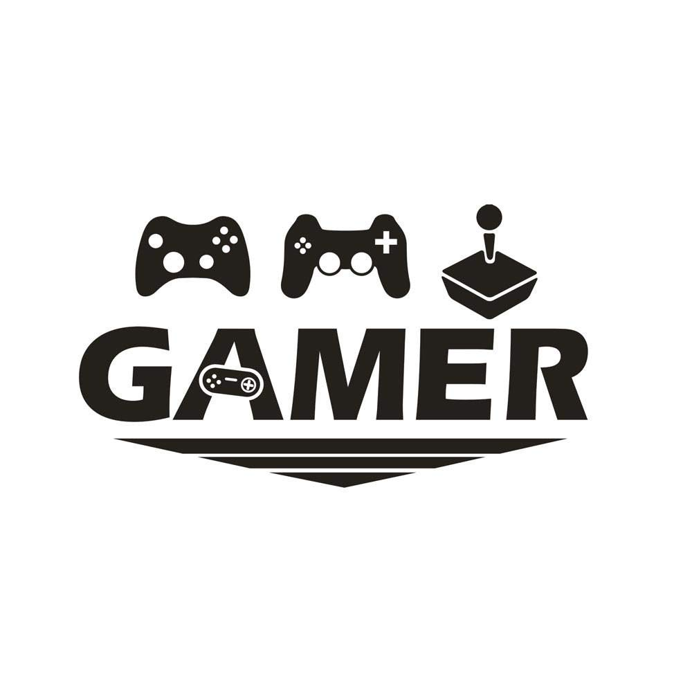 wall stickers gamer art design diy wall decoration removable