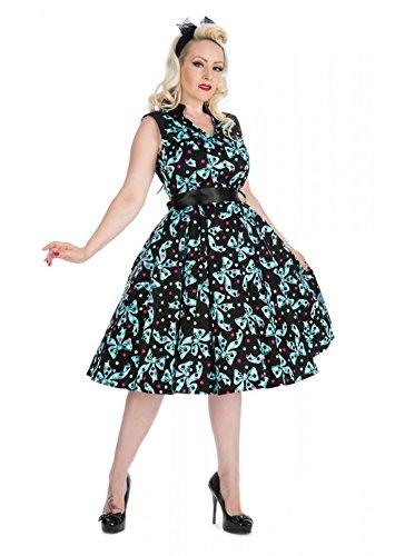 Femme 40 's - 50 's Style Vintage Motif pois et nœud en tulle Jive Robe à Thé Swing