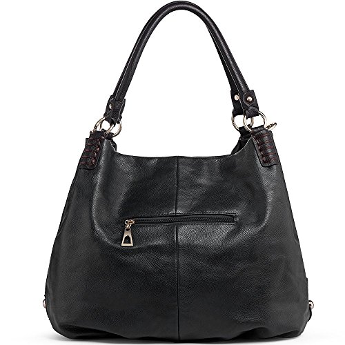 Fashion Handbags for Bags Handle Shoulder Satchel Black WISHESGEM Leather Crossbody Double PU Purse women qgwxFXwBaZ