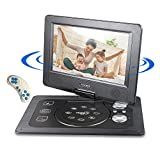 COOCHEER Portable DVD Player,Travel HD Backseat CD DVD Player with Rechargeable Battery 10.1-Inch Swivel Screen and Game Controller,Support USB/SD Card,Black For Sale