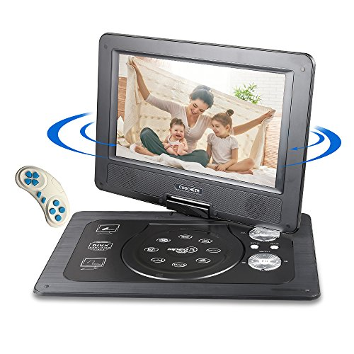 COOCHEER Portable DVD Player,Travel HD Backseat CD DVD