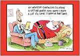 NobleWorks 'OC Santa McCoy Cartoon': Funny Christmas Greeting Card with Envelope (1555)
